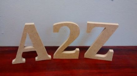 FREE STANDING WOODEN letters large 12 cm,  wooden letters and numbers